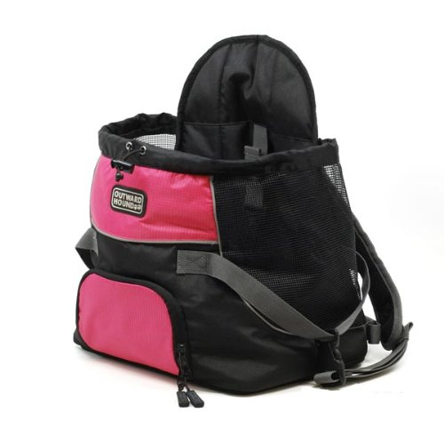 "Outward Hound Front Carrier Medium Pink 15"" x 11"" x 9"" (2 Pack)"