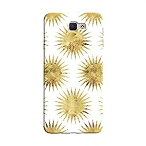 Cover It Up - Gold White Star Galaxy J5 Prime Hard Case