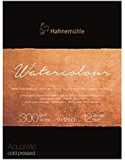 Hahnemuhle Collection Watercolor 300 Pad Cold Pressed 9x12 Inches 300gsm