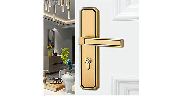 Cerradura De Puerta De Cobre Puro Sala De Hogar Dormitorio ...