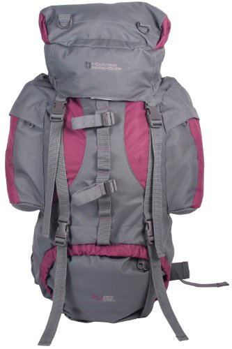 Mountain Warehouse Tor 65L Spacious Rucksack - Ladderlock Back, Padded Air Mesh with Load Balance Adjusters, Multiple Pockets & Compartments - Great for travelling Purple