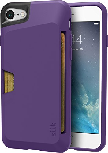 "Silk iPhone 7/8 Wallet Case - VAULT Protective Credit Card Grip Cover - ""Wallet Slayer Vol.1"" - Purple Orchid"