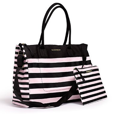 Victorias Secret Weekend Travel Tote Bag & Cosmetics Bag Pink - Sunglasses Victoria Secret