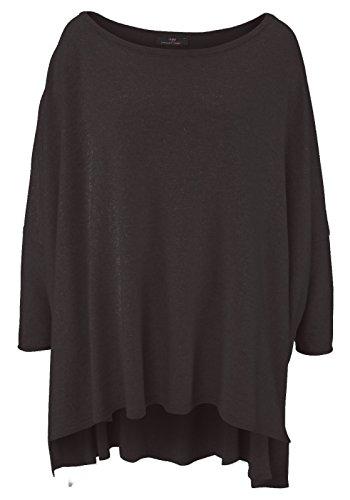maglione maglione maglione cachemire XXL Cashmere da misura e maniche con Nero donna di collo Dreams poncho rITwEqxI8
