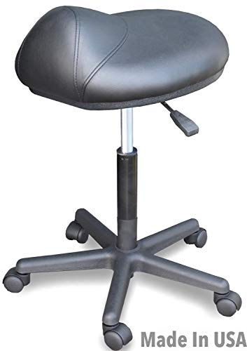 915 M Medical Physician Dental Ergonomic Saddle Stool Chair Anti-Fatigue w/air Lift Made in USA by Dina Meri (Physician Adjustable Stool)