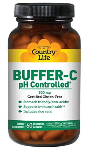 - Country Life Buffer-C, pH Controlled,  500 mg , Veg Caps, 60-Count