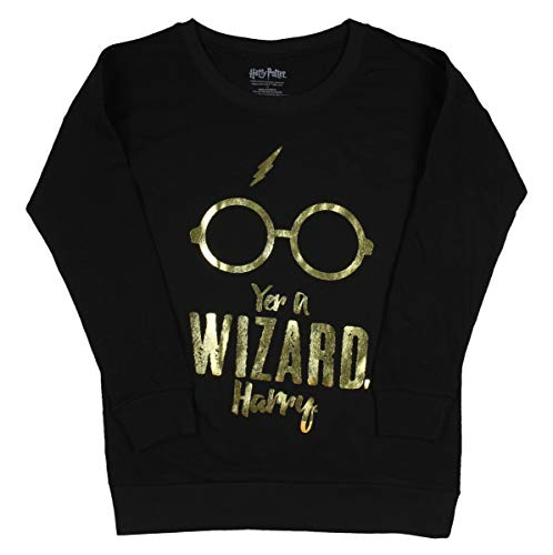 Real Deal Sales LLC Harry Potter Yer A Wizard Harry Girls Plus Size Pullover Sweater (5) -