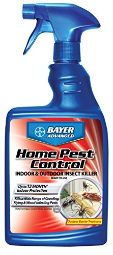 Bayer Advanced 502790 Home Pest Control Indoor and Outdoor Insect Killer Ready-To-Use, 24-Ounce (24 Ounce Control Insect)