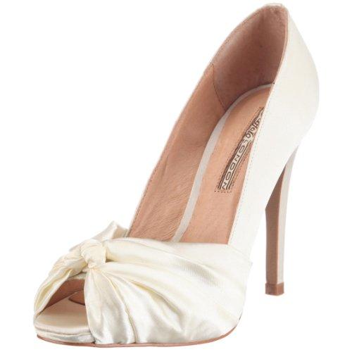 Buffalo London 107-7244 93908 - Zapatos de tacón con puta abierta para mujer Beige