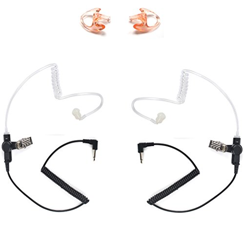 3 5mm police listen only acoustic tube earpiece with one