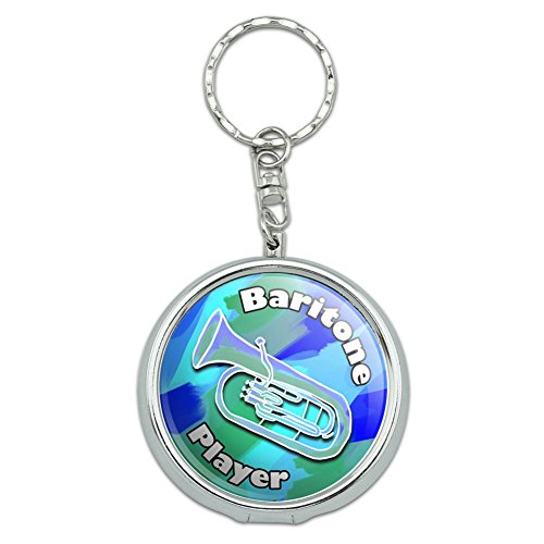 Graphics and More Portable Travel Size Pocket Purse Ashtray Keychain Music Musical Instruments - Baritone Player Band Brass Blue Green (Ash Tray Key Chain)