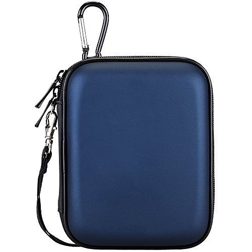 Lacdo Waterproof Hard EVA Shockproof Carrying Case for Seagate Backup Plus Slim, Toshiba Canvio Basics, Canvio Connect, Canvio Slim II 2.5-Inch Portable External Hard Disk Drive - Blue (Disk Hard Drive External Portable)