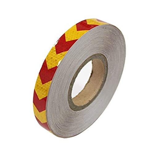 Night Reflective Conspicuity Safety Self Adhesive Warning Tape Strip Arrow Sticker 1