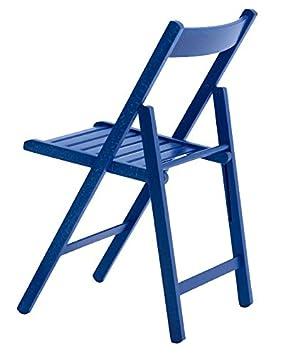 Aranaz Silla Plegable, Haya, Azul, 43 x 47 x 79 cm