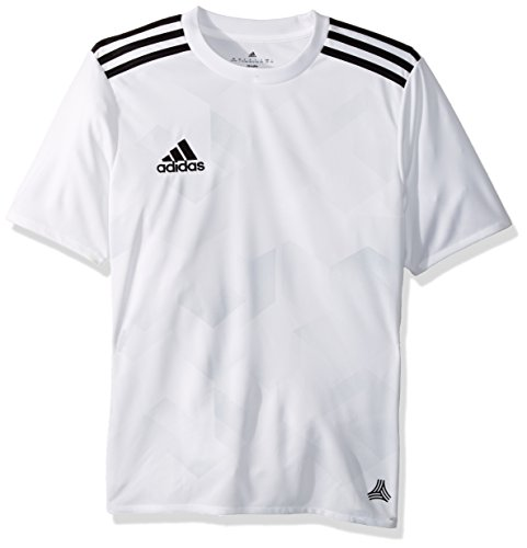 adidas Youth Soccer Tango Jersey, White/Clear Grey, Medium - Youth White Football Jersey
