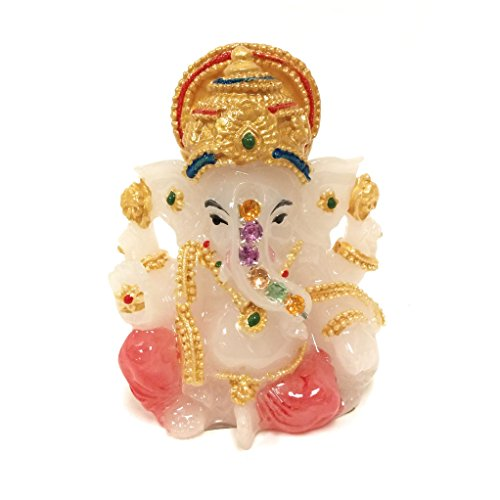 Darshan Collection Lord Ganesh Statue with Jewels, Hindu Elephant God of Success, Wisdom, Learning. 3-Inch