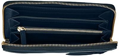 Fossil Caroline Rfid Zip Around Wallet Midnight Navy Wallet