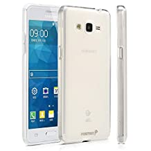 Fosmon Samsung Galaxy Grand Prime Case - (DURA-FRO) Slim-Fit Flexible TPU Gel Case Cover for Samsung Galaxy Grand Prime - Fosmon Retail Packaging (Clear)