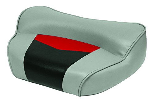 Wise 3308-1881 Pro-Angler Professional Casting Deck Seat, Marble Grey/Regal Red Charcoal
