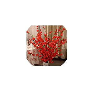 Brittany-Breanna Artificial Cherry Silk Flower Home Wedding Decorative Flowers Plastic Peach Bouquet 56