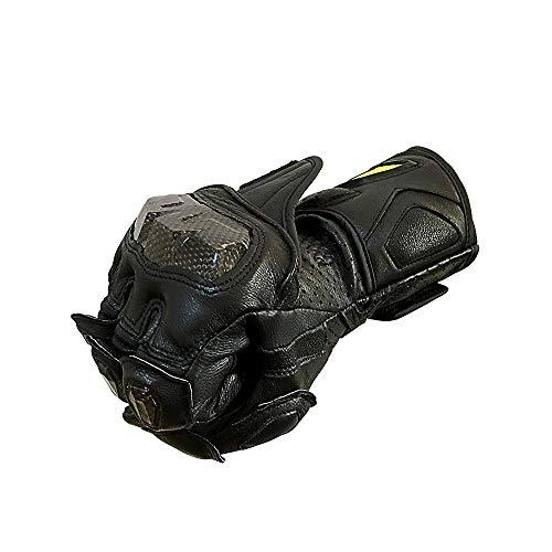 - Full finger Carbon Fiber Motorcycle Gloves for Men GP-PRO Genuine Leather Motor Racing Gloves (Black, X-Large)