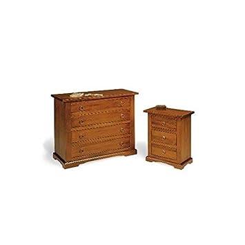 comodino cassettiera legno noce arte povera super prezzo: amazon ... - Cucine Arte Povera Prezzi