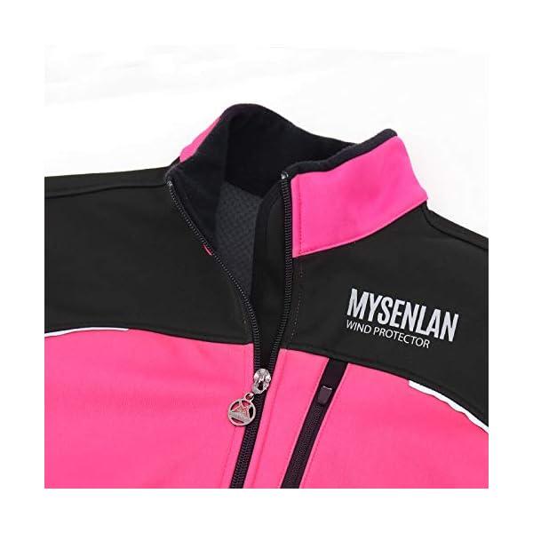 Mysenlan Mens Windbreaker Jacket Running Cycling Jackets Fleece Thermal Coat Windproof Warm Sports Jacket