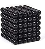 Black 5mm 216pcs Magnetic buckyballs Toy Finger spinner Magic Cubes Anti-stress Toys Magnet Neo Cube Magic Metal Box Toy For Adult Kids