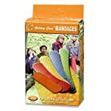Galaxy Care 5 Colors Fun Strip Kids Bandages Band Aid 70pc Pack Flexible Waterproof Orange Pink Yellow Blue Green
