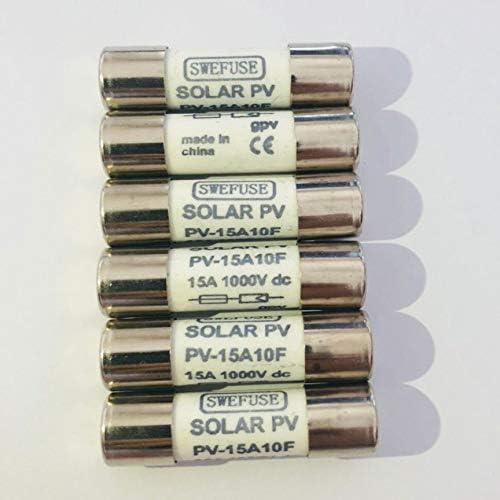 20A Tiamu 10 Pi/èces 1000 VDC Fusible Solaire Pv Anti-D/éflagrant Fusible Argent