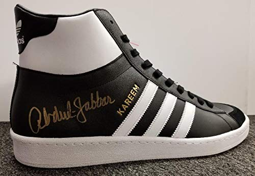 Kareem Abdul Jabbar Autographed Signed Adidas 6X NBA Champ Shoes Black Bas Beckett Itp Coa