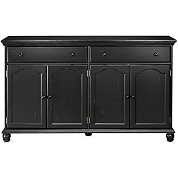 harwick black credenza sideboard buffet table 35h x 60w x 16 - Black Sideboard Buffet