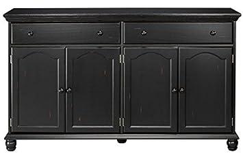 Credenza Dark : Amazon home decorators collection harwick black credenza