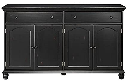 Harwick Black Credenza Sideboard Buffet Table 35u0026quot;H X 60u0026quot;W X ...