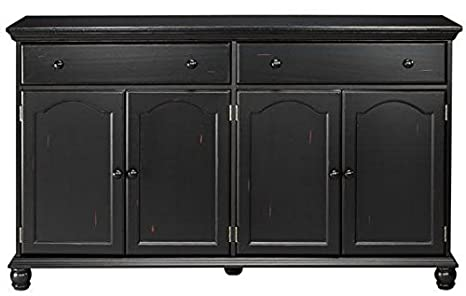 Pleasing Home Decorators Collection Harwick Black Credenza Sideboard Buffet Table 35 H X 60 W X 16 D 60 W Black Home Interior And Landscaping Palasignezvosmurscom