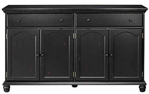 harwick black credenza sideboard buffet table 35 h x 60 w. Black Bedroom Furniture Sets. Home Design Ideas