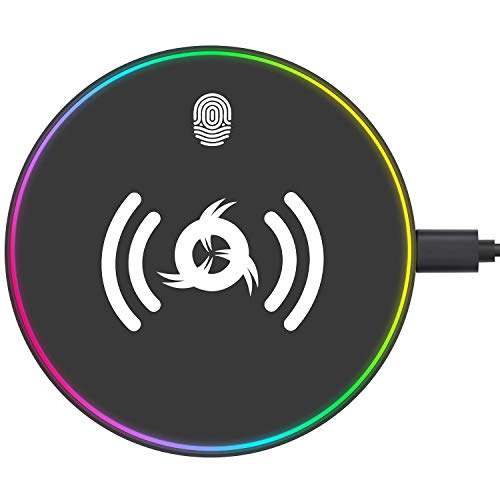 "KLIM<img src=""https://s.w.org/images/core/emoji/12.0.0-1/72x72/2122.png"" alt=""™"" class=""wp-smiley"" style=""height: 1em; max-height: 1em;"" /> UFO – Cargador inalámbrico con Adaptador para Carga rápida 10 W + Compatible con iPhone Samsung Huawei LG y Más…"