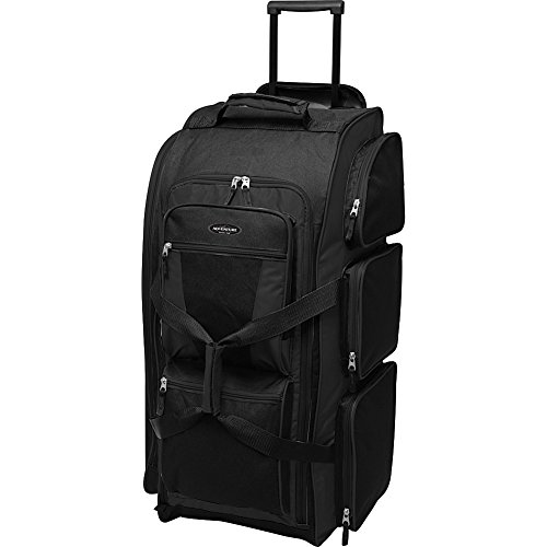 Travelers Club Luggage Adventure 30 Inch Rolling Multi-Pocket Upright Duffel, Black ()