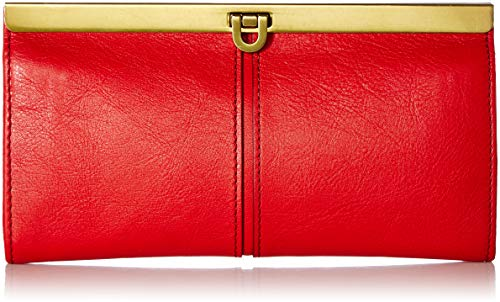 Fossil Red Leather - Fossil Kayla Frame Clutch Poppy Red, One Size