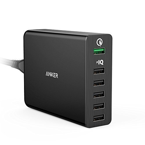 Quick-Charge-20-Anker-60W-6-Port-USB-Charger-PowerPort-6-for-Galaxy-S7S6EdgePlus-Note-45-LG-G4-HTC-One-M8M9-Nexus-6-iPhone-iPad-and-More
