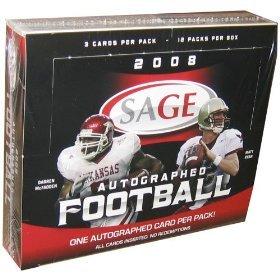 Sage Autograph Football Hobby Box (2008 Sage Autograph Football Cards Unopened Hobby box - Darren McFadden & Matt Ryan Rookie Year)