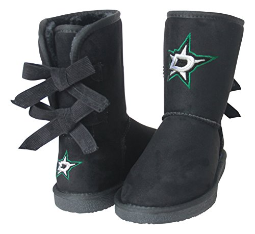 NHL Dallas Stars Boys Fan Boot, Size 6, Black by Cuce Shoes