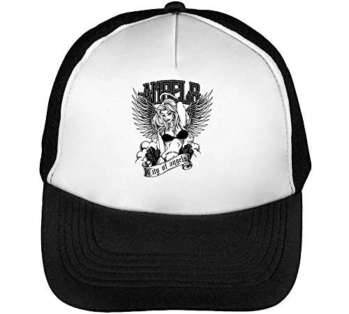 Hombre Angels Beisbol Blanco Negro Of Gorras Snapback aEgwq