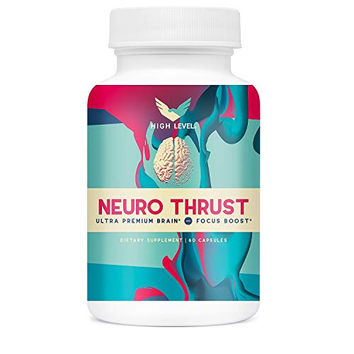(High Level NeuroThrust | Ultra Premium Brain Support Supplement for Memory, Focus, Clarity | 60 Capsules with DMAE, GABA, Bacopa Extract, Bilberry Fruit Extract, L-Glutamine and More | 100% Natural)