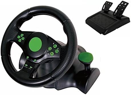 Kabalo Gaming Vibration Racing Steering Wheel (23cm) and Pedals ...