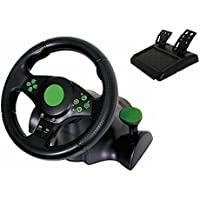 Kabalo Gaming Vibration Racing Steering Wheel (23cm) and Pedals for XBOX ONE PS3 PS2 PC USB