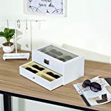 MyGift Deluxe White 12-Compartment Sunglasses