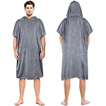 Catalonia Beach Surf Poncho,Super Water Absorbent Wetsuit Changing Towel Robe with Hood Sand-Proof for Surfing Swimming Bathing Adults Men Women