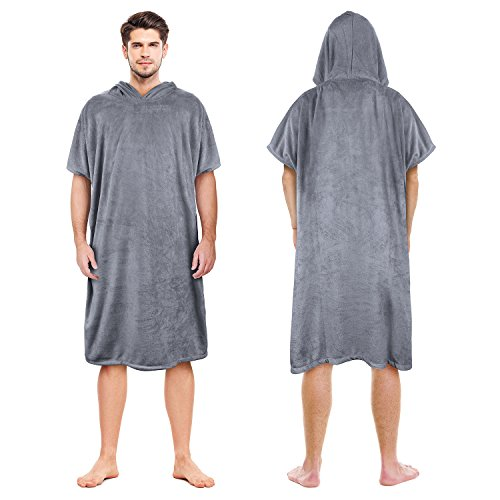 Catalonia Beach Surf Poncho,Super Water Absorbent Wetsuit Changing Towel Robe with Hood for Adults Men Women Surfing Swimming Bathing,Sand Proof,Oversized