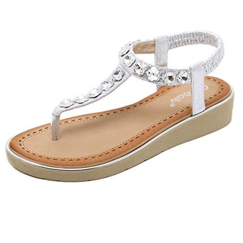 paisseur Plage Des Chaussures Sandales 40 Avec Strass Dcontractes Bas De Et Dgrad Fraches XSqTBS